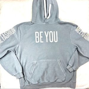 "LuLaRoe ""Be You"" Grey Oversize Heavy Cotton Hoodie"